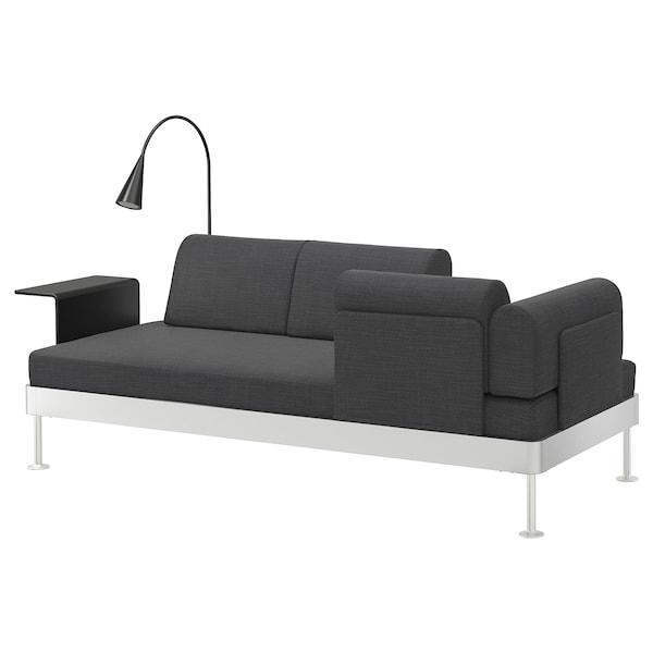 DELAKTIG 3:n ist sohva+sivupöytä+valaisin, Hillared antrasiitti