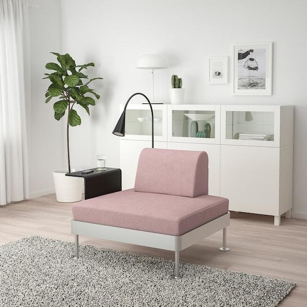 DELAKTIG Lepotuoli+sivupöytä+valaisin, Gunnared vaalea rusehtava roosa