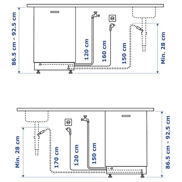 DISKAD Integroitava astianpesukone, IKEA 700, 60 cm