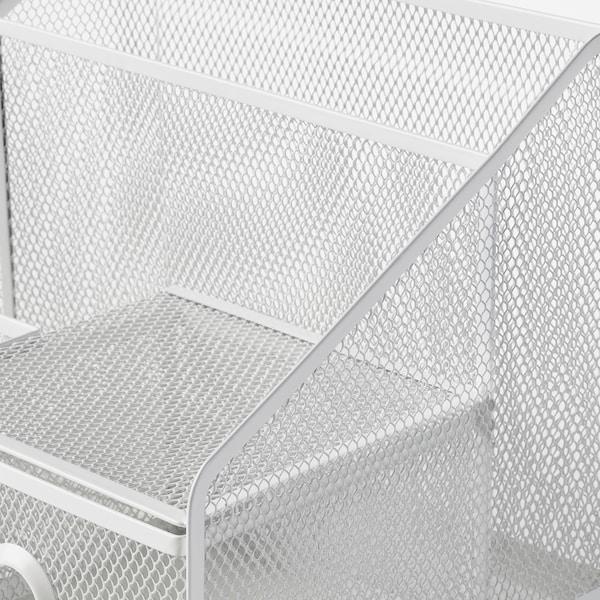 DRÖNJÖNS Toimistotarviketeline, valkoinen, 25x20 cm