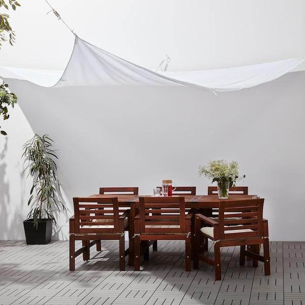 DYNING Aurinkokatos, kolmikulm/valkoinen, 360 cm
