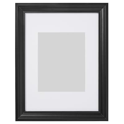 EDSBRUK Kehys ja kehyskartonki, mustaksi petsattu, 30x40 cm