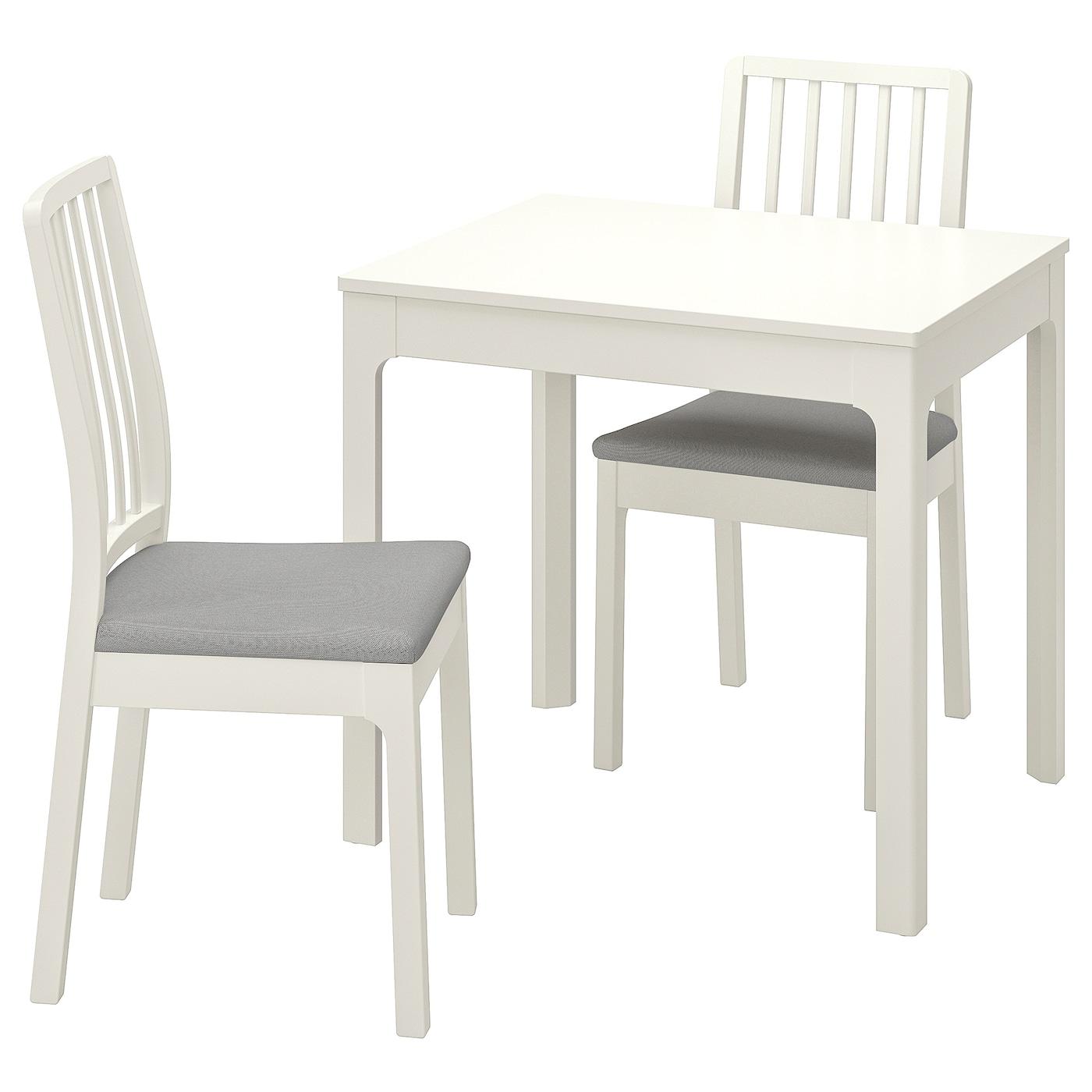EKEDALEN EKEDALEN Pöytä + 6 tuolia, valkoinen, Orrsta
