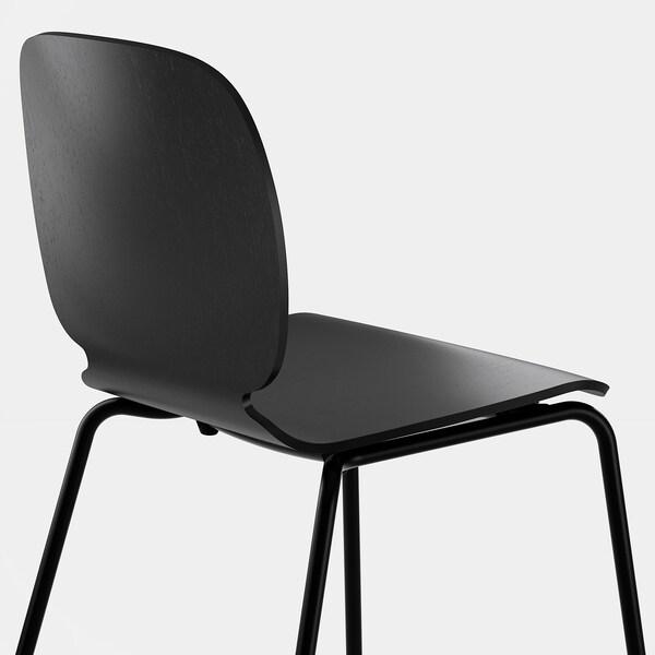 EKEDALEN / SVENBERTIL Pöytä + 4 tuolia, tammi/musta, 120/180 cm