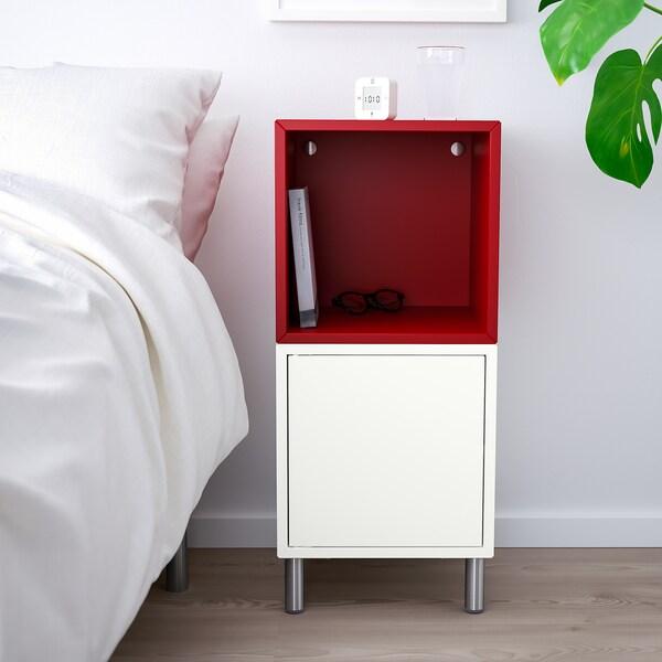 EKET kaappi+jalat valkoinen/punainen 70 cm 35 cm 35 cm 80 cm