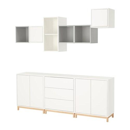 EKET Kaappi+jalat  valkoinen vaaleanharmaa  IKEA