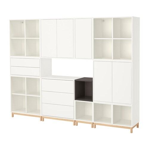 EKET Kaappi+jalat  valkoinen tummanharmaa  IKEA