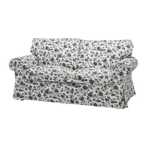 EKTORP 2:n istuttava sohva , Hovby valkoinen/musta Leveys: 179 cm Syvyys: 88 cm Korkeus: 88 cm Istuimen syvyys: 49 cm Istuinkorkeus: 45 cm