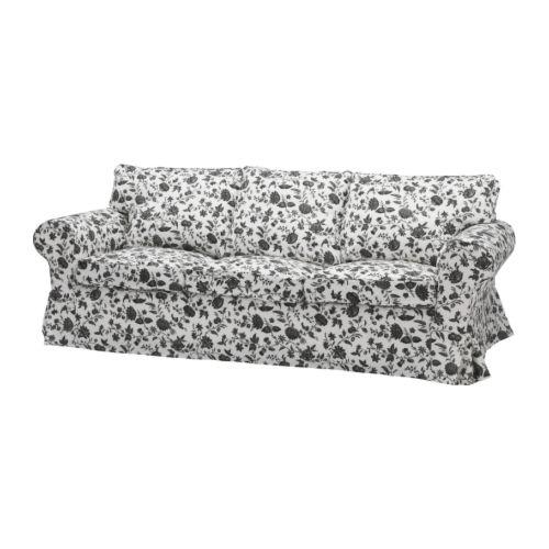 EKTORP 3:n istuttava sohva , Hovby valkoinen/musta Leveys: 218 cm Syvyys: 88 cm Korkeus: 88 cm Istuimen syvyys: 49 cm Istuinkorkeus: 45 cm