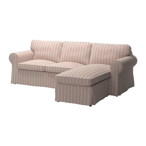 EKTORP 2:n istuttava sohva ja divaani - Mobacka beige/punainen - IKEA