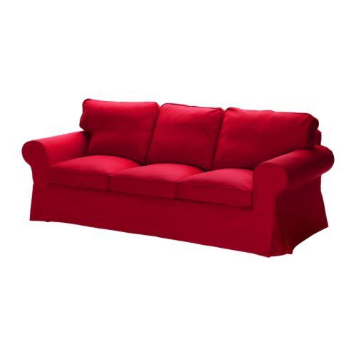 EKTORP 3:n istuttava sohva , Idemo punainen Leveys: 218 cm Syvyys: 88 cm Korkeus: 88 cm Istuimen syvyys: 49 cm Istuinkorkeus: 45 cm