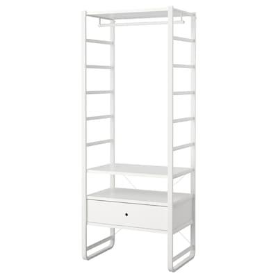 ELVARLI Hyllykokonaisuus, valkoinen, 84x55x216 cm