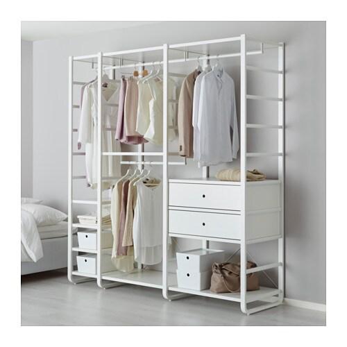 ELVARLI Hyllykokonaisuus IKEA Avointa säilytystilaa voidaan muokata ...