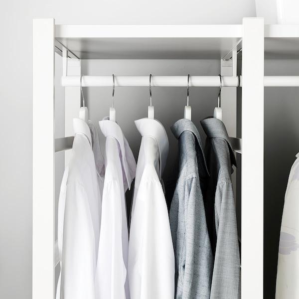 ELVARLI Hyllykokonaisuus, valkoinen, 165x55x216 cm