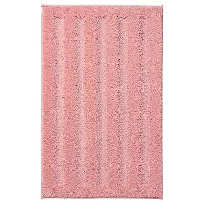 EMTEN kylpyhuoneenmatto vaalea roosa 80 cm 50 cm 0.40 m²