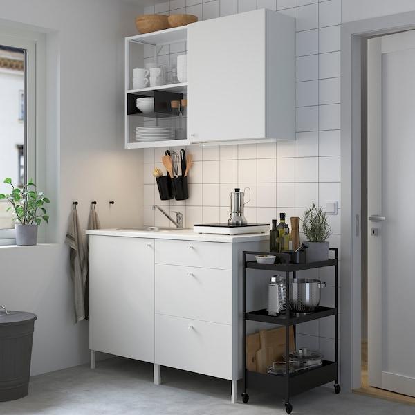 ENHET Keittiö, valkoinen, 123x63.5x222 cm