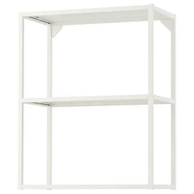 ENHET Seinärunko + hyllyt, valkoinen, 60x30x75 cm