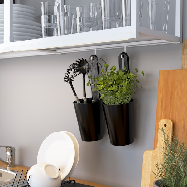 ENHET Seinärunko + hyllyt, valkoinen, 40x15x75 cm
