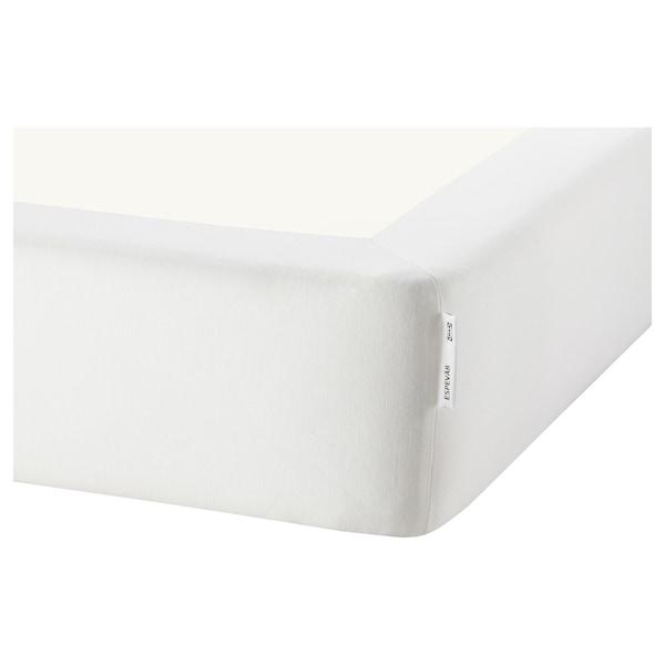 ESPEVÄR/VADSÖ Jenkkisänky, valkoinen/kiinteä vaaleansininen, 180x200 cm