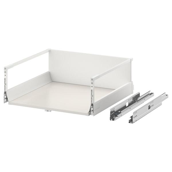 EXCEPTIONELL Laatikko, korkea, painalluksella av, valkoinen, 60x60 cm