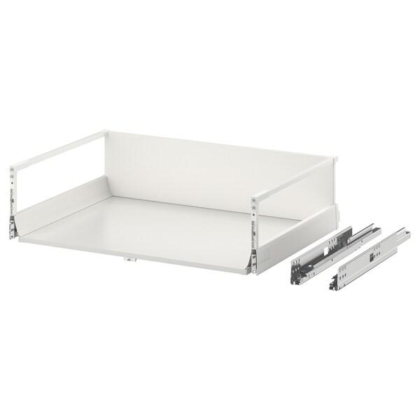 EXCEPTIONELL Laatikko, korkea, painalluksella av, valkoinen, 80x60 cm