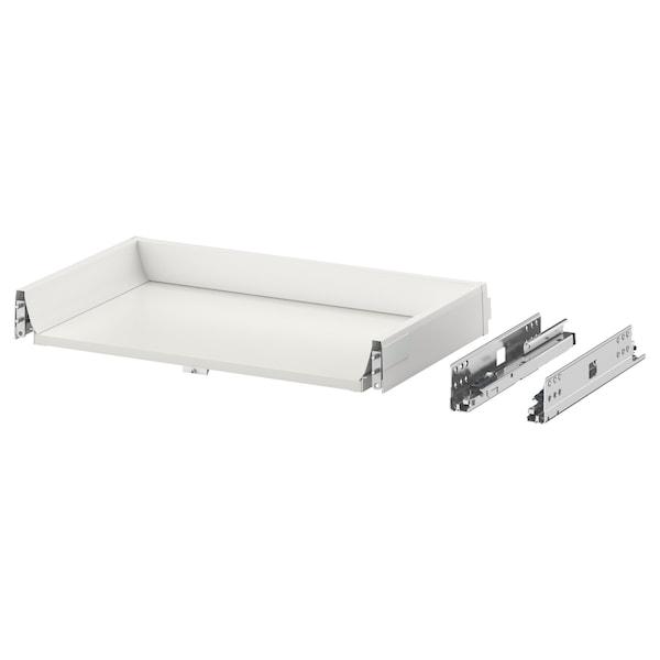EXCEPTIONELL Laatikko, matala, painalluksella av, valkoinen, 60x37 cm