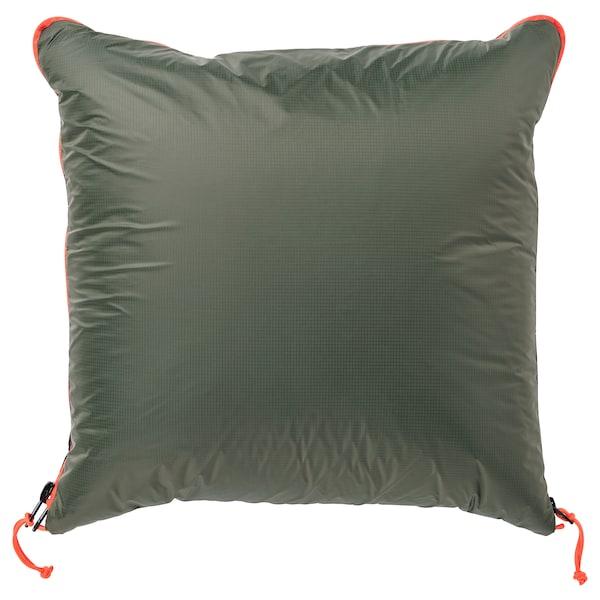 FÄLTMAL Tyyny/peitto, syvänvihreä, 190x120 cm