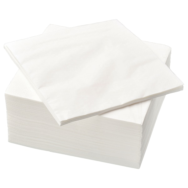 FANTASTISK Paperilautasliina, valkoinen, 40x40 cm