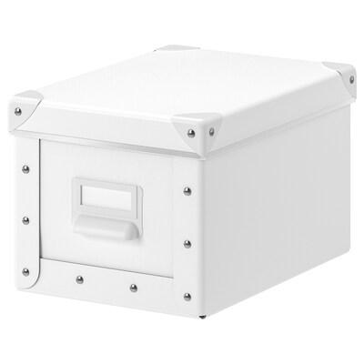 FJÄLLA kannellinen säilytyslaatikko valkoinen 25 cm 19 cm 26 cm 18 cm 15 cm