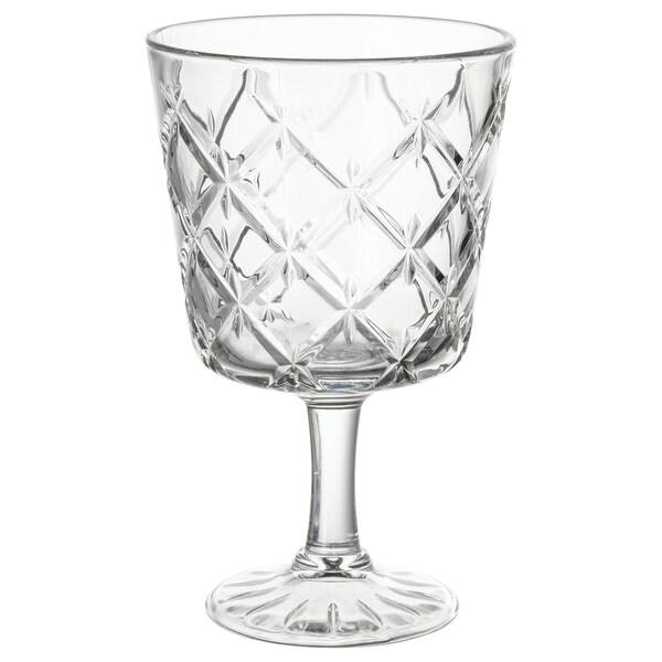 FLIMRA lasi, jalallinen kirkas lasi/kuvioitu 13.7 cm 23 cl