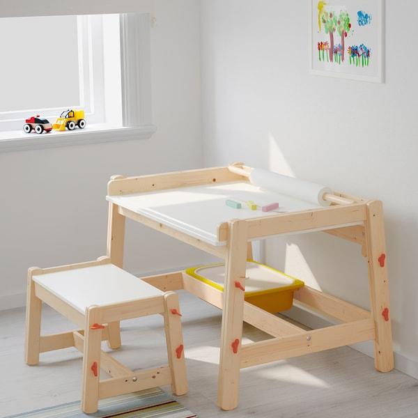 FLISAT Lasten työpöytä, säädettävä