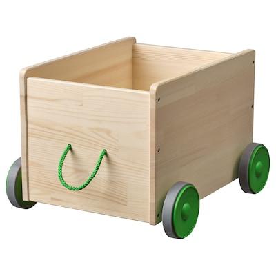 FLISAT pyörällinen lelulaatikko 44 cm 39 cm 31 cm