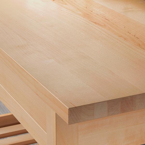 FÖRHÖJA Tarjoiluvaunu/apupöytä, koivu, 100x43 cm
