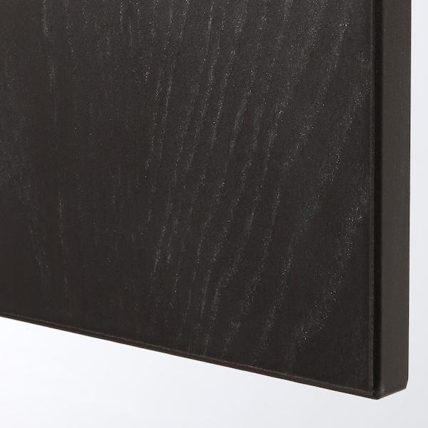 FORSAND Ovi, mustanrusk petsattu saarnikuvio, 50x195 cm