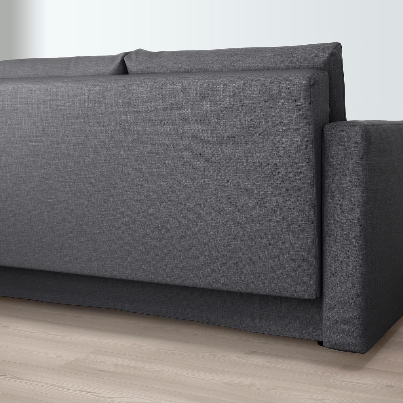 FRIHETEN 3:n istuttava vuodesohva Skiftebo tummanharmaa IKEA