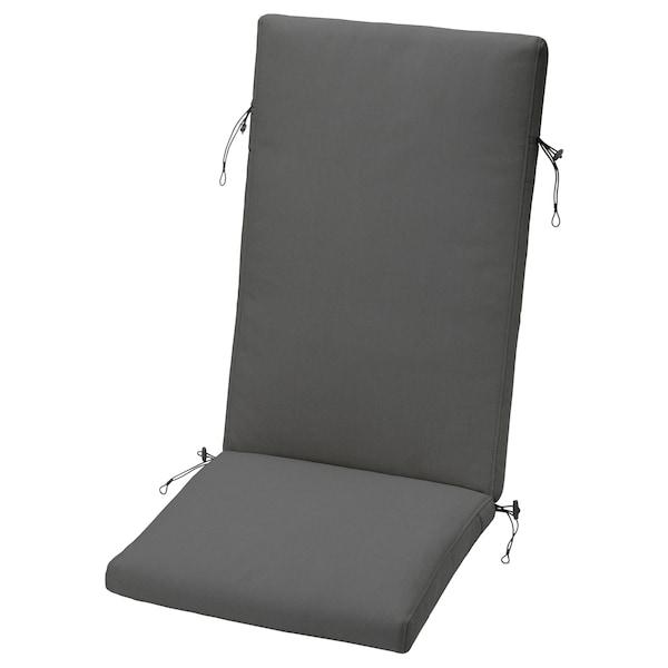 FRÖSÖN/DUVHOLMEN Istuin-/selkänojatyyny ulkokäyttöön, tummanharmaa, 116x45 cm
