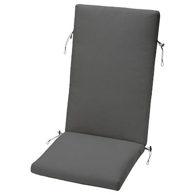 FRÖSÖN Istuin-/selkätyynyn päällinen, ulkokäyttöön tummanharmaa, 116x45 cm
