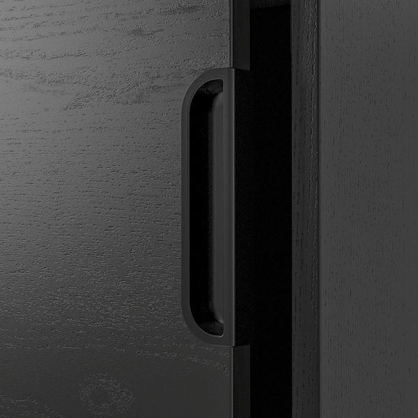 GALANT Liukuovikaappi, mustaksi petsattu saarniviilu, 160x120 cm