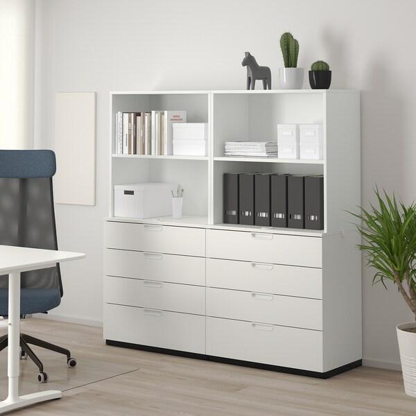 GALANT Säilytyskokonaisuus+laatikot, valkoinen, 160x160 cm