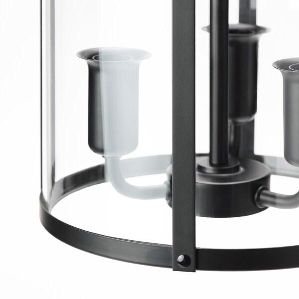 GALJON Kattovalaisin, musta/läpikuultava lasi, 25 cm