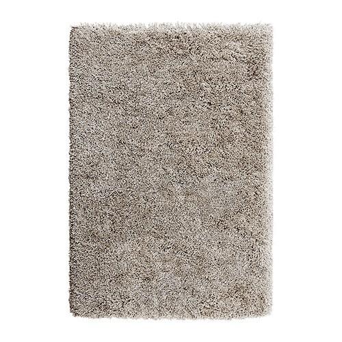 GÅSER Matto, korkea nukka, beige Pituus: 195 cm Leveys: 133 cm Nukan tiheys: 3460 g/m² Nukan pituus enint.: 70 mm
