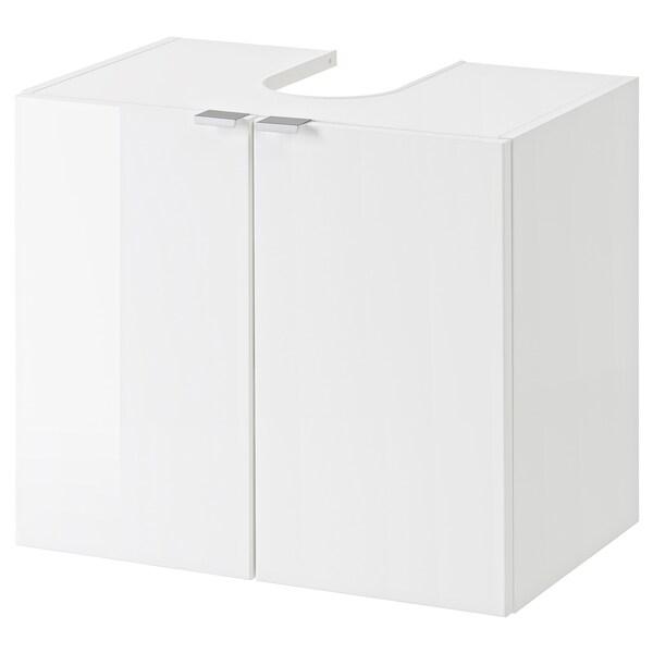 GETRYGGEN allaskaappi 2 ovea korkeakiilto/valkoinen 60 cm 38 cm 51 cm