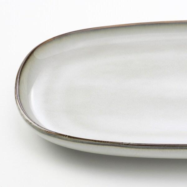 GLADELIG Lautanen, harmaa, 31x19 cm