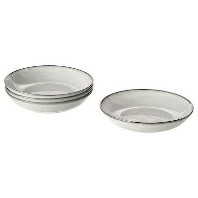 GLADELIG Syvä lautanen, harmaa, 21 cm