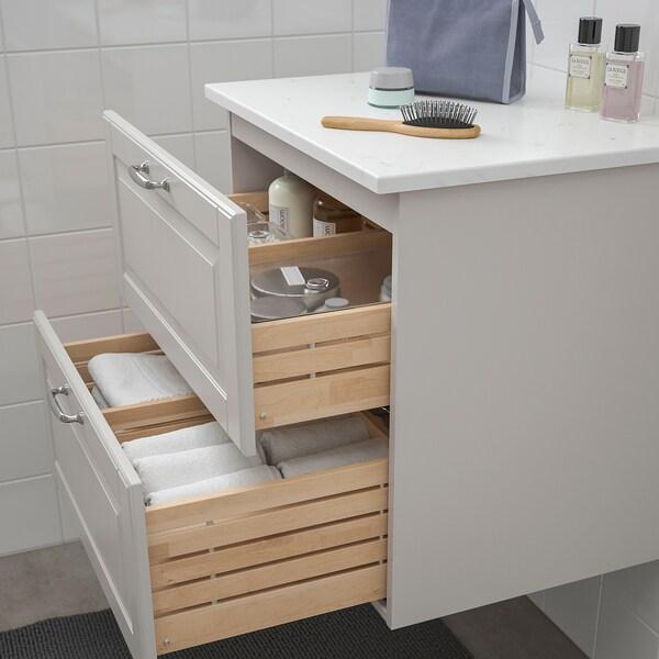 GODMORGON / TOLKEN Allaskaluste 2 laatikkoa, Kasjön vaaleanharmaa/marmorikuvio, 62x49x60 cm