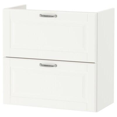 GODMORGON allaskaluste 2 laatikkoa Kasjön valkoinen 60 cm 32 cm 58 cm
