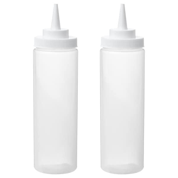GRILLTIDER Puserruspullo, muovi/läpikuultava, 330 ml