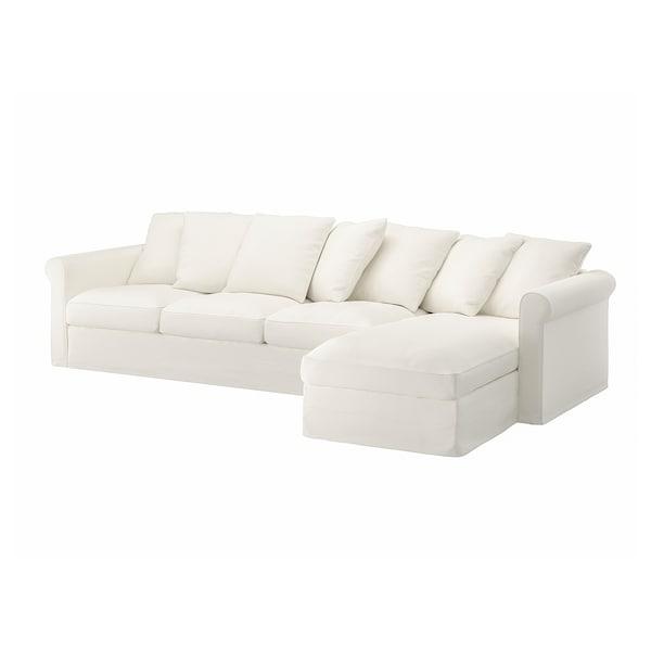 GRÖNLID 4:n istuttavan sohvan päällinen divaanin kanssa, Inseros valkoinen
