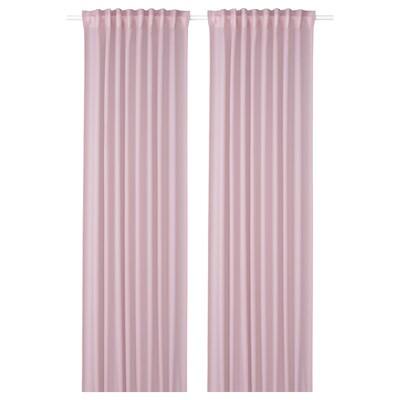 GUNRID ilmaa puhdistavat verhot, 1 pari vaalea roosa 250 cm 145 cm 0.92 kg 3.63 m² 2 kpl
