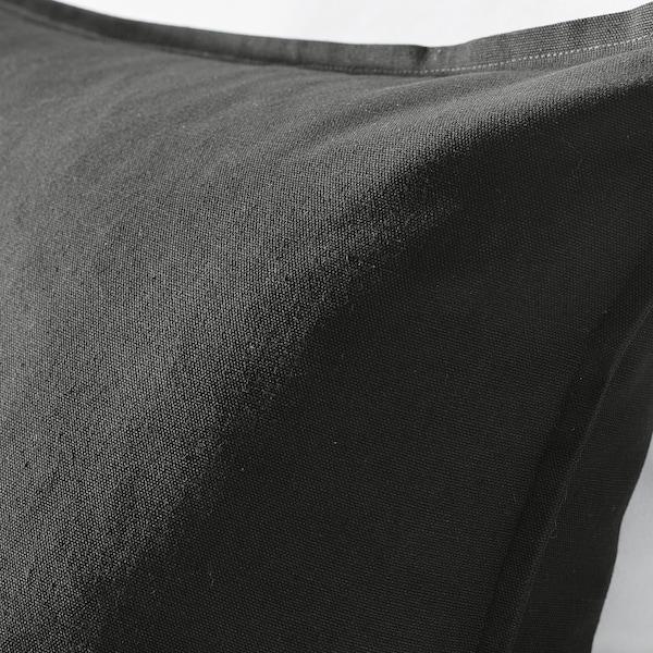 GURLI Tyynynpäällinen, musta, 50x50 cm